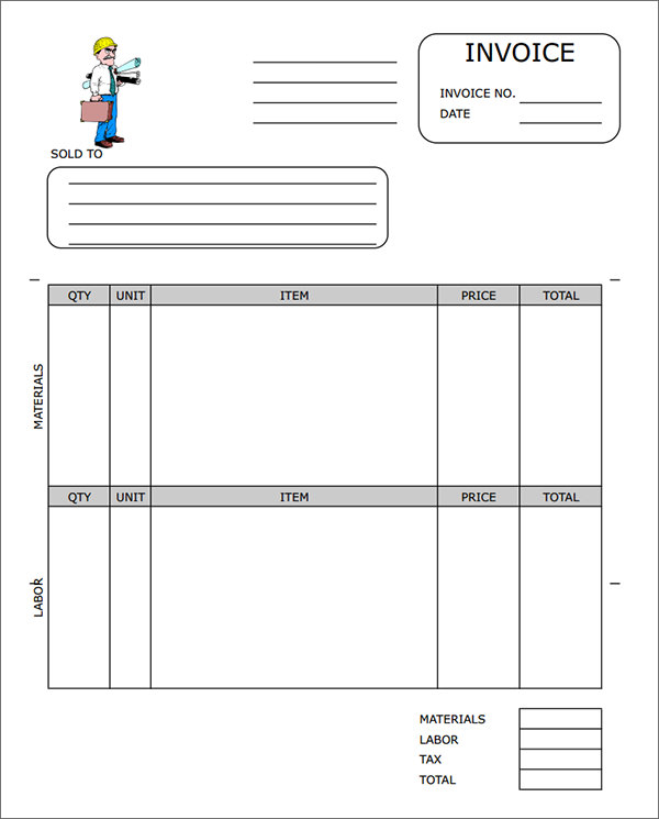 contractor invoice template pdf Acur.lunamedia.co