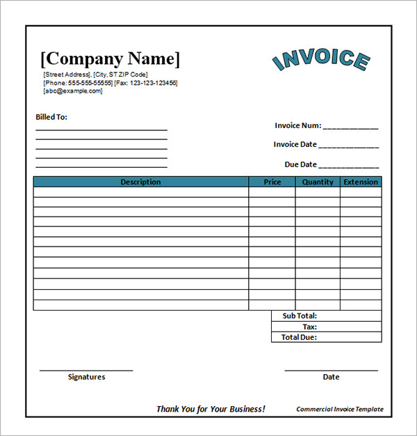 Free Downloadable Invoice Template Excel Apcc2017