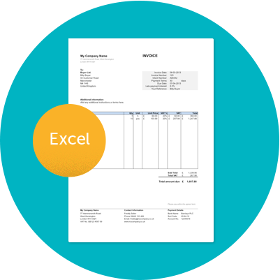Excel Invoice Example Free Invoice Template Using Excel Download