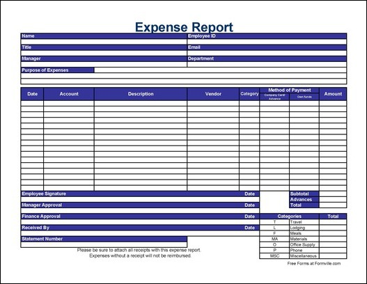 free online expense report Ecza.solinf.co