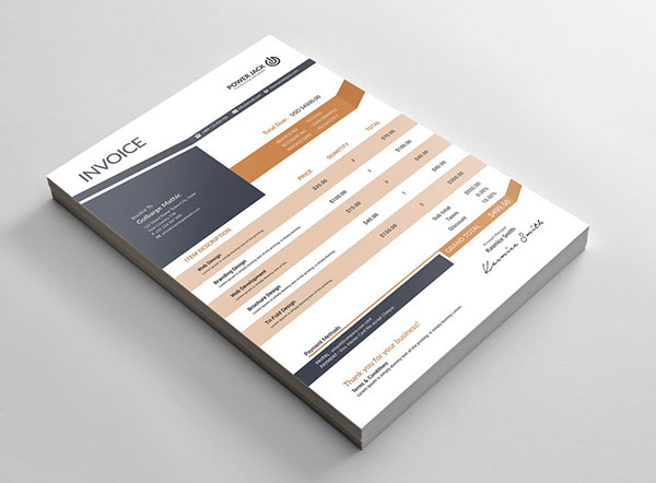 Top 10 Best Free Professional Invoice Template Designs in Ai & PSD