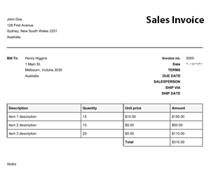 free online invoice template free online invoice templates