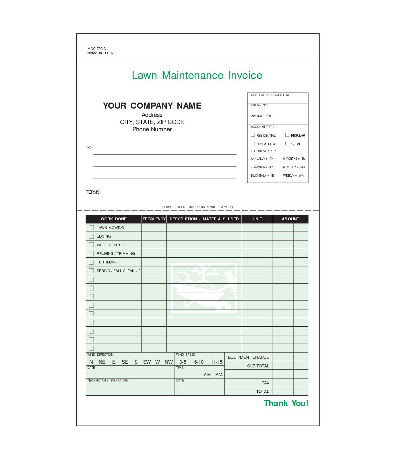 lawn care invoice template free Acur.lunamedia.co