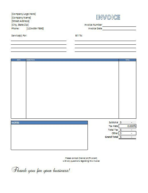 Free Invoice Download Free Downloadable Invoice Ricdesign