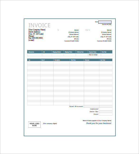 General Invoice Template 27+ Free Word, Excel, PDF Format