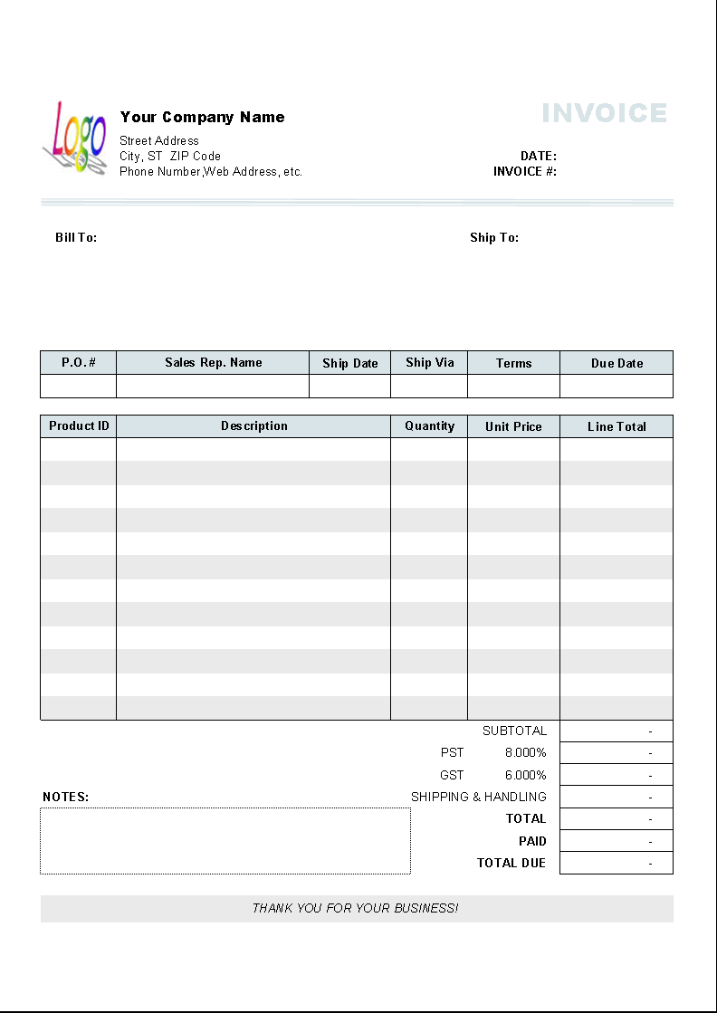 General Invoice | Free General Invoice Templates