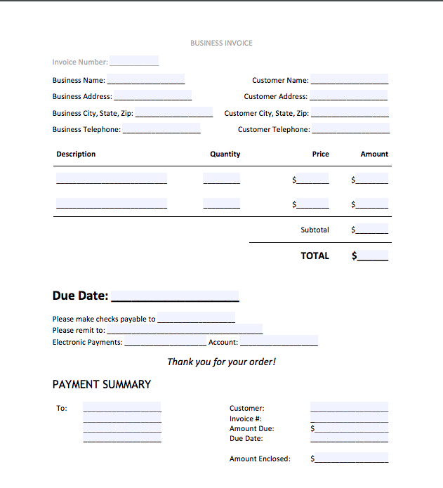Top 5 Best Invoice Templates to use for Business | Top Form