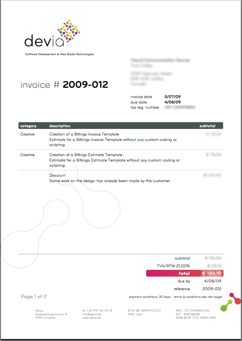 Graphic Design Freelance Contract Template With Invoice Template