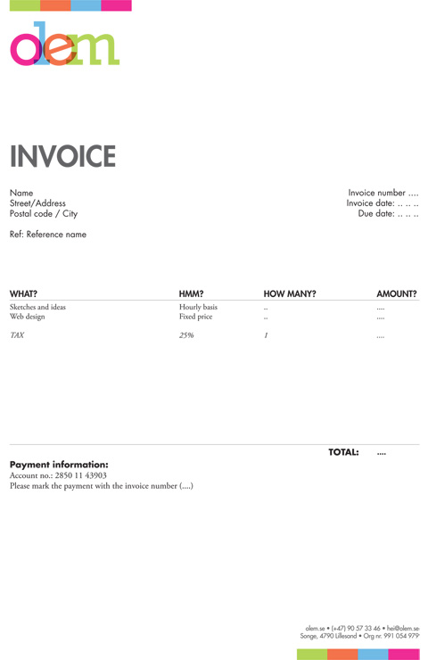 Invoice Template For Graphic Designer Freelance Invoice Template