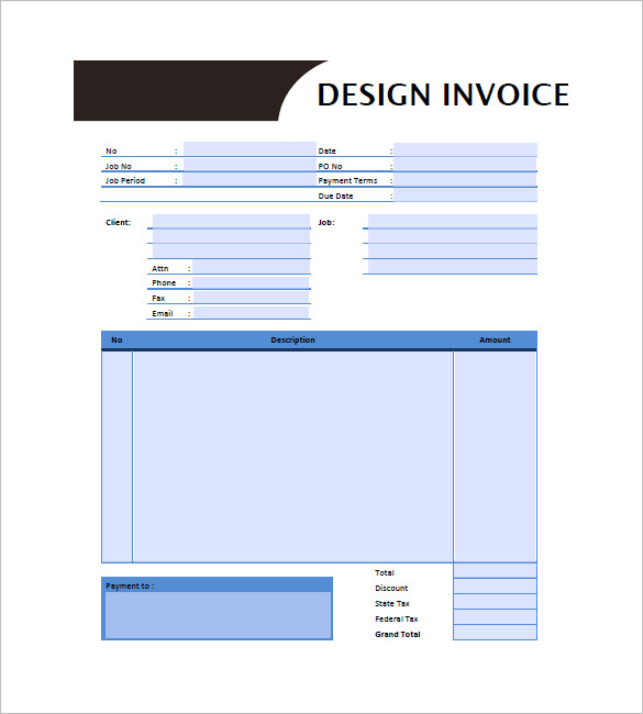 Designing Invoice Template – 10+ Free Word, Excel, PDF Format