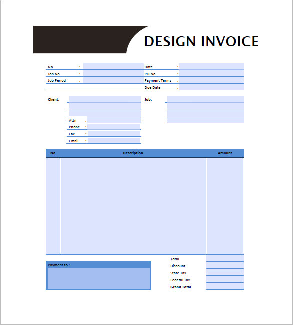 Graphic Design Invoice Templates – 8+ Free Word, Excel, PDF Format