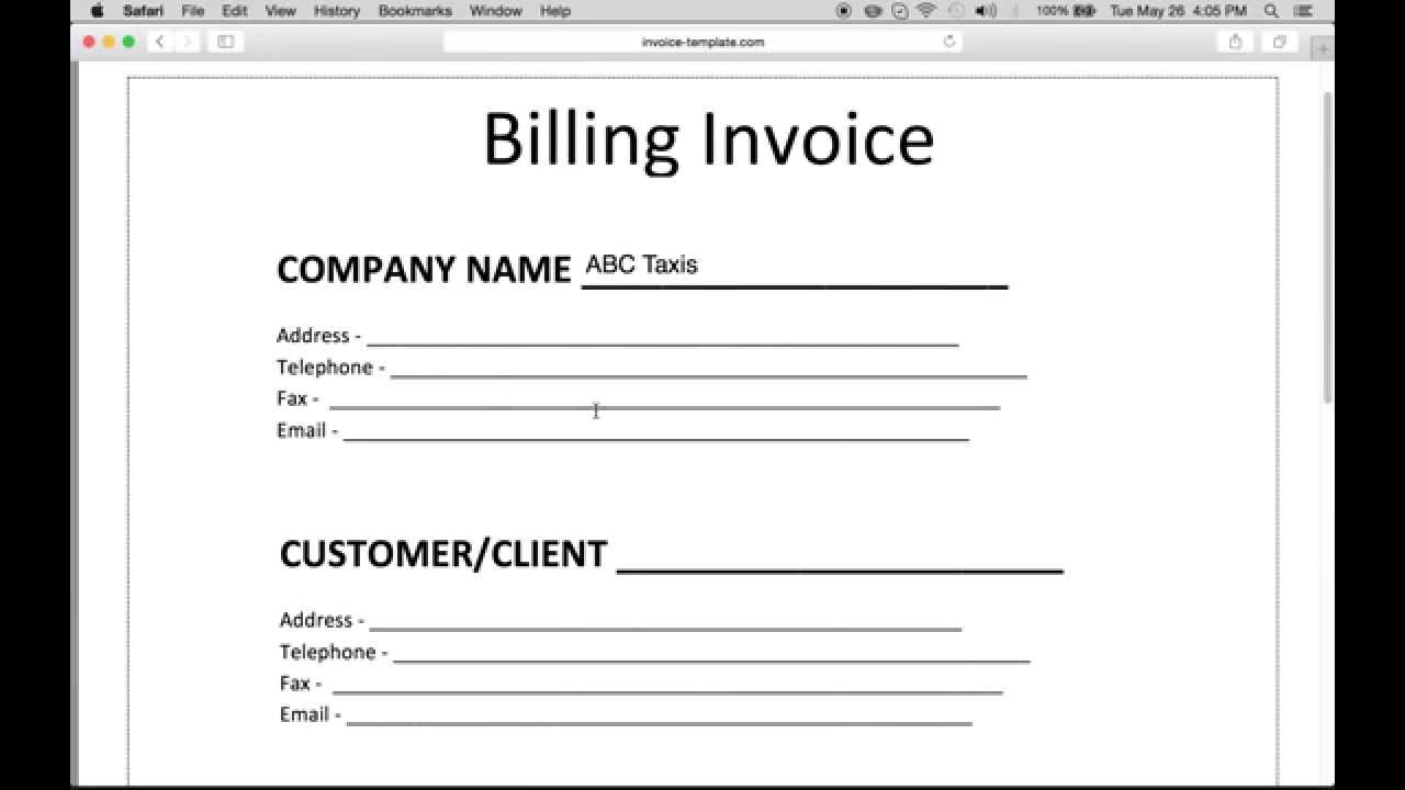 How to Make a Billing Invoice | Excel | PDF | Word YouTube