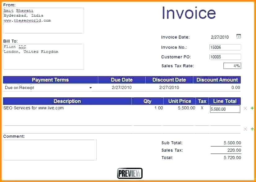 how to create a invoice in excel apcc2017