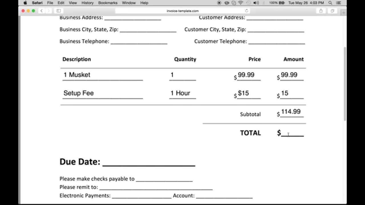 How to Make a Business Invoice | Excel | PDF | Word YouTube