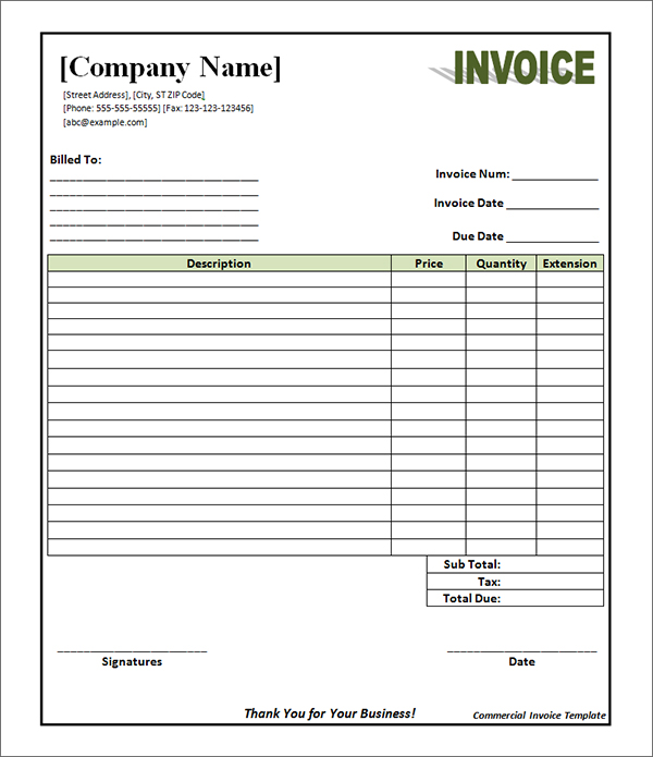 How To Make A Commercial Invoice 4 – namibia mineral resources