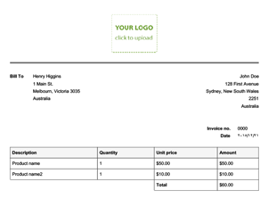 Simple invoice that calculates total