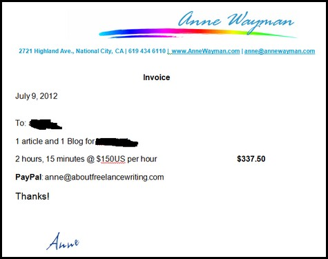 Invoice Writing How To Create A Freelance Writing Invoice