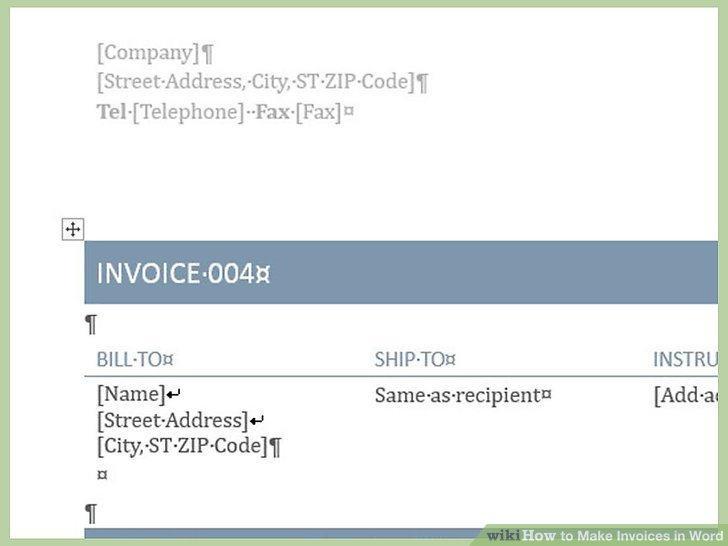 How to Make Invoices in Word: 12 Steps (with Pictures) wikiHow