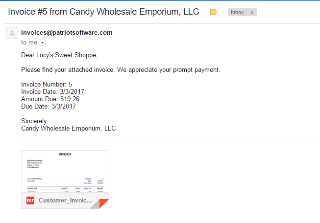 how to write invoice email