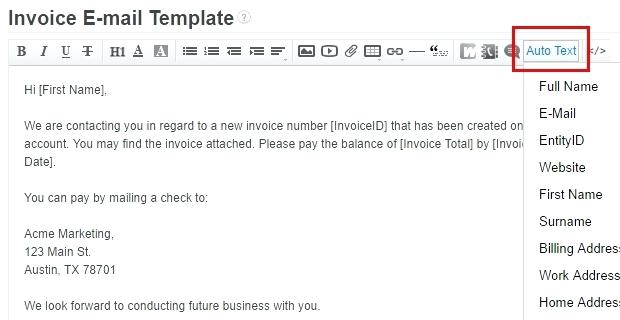 How To Write Invoice Email Apcc2017