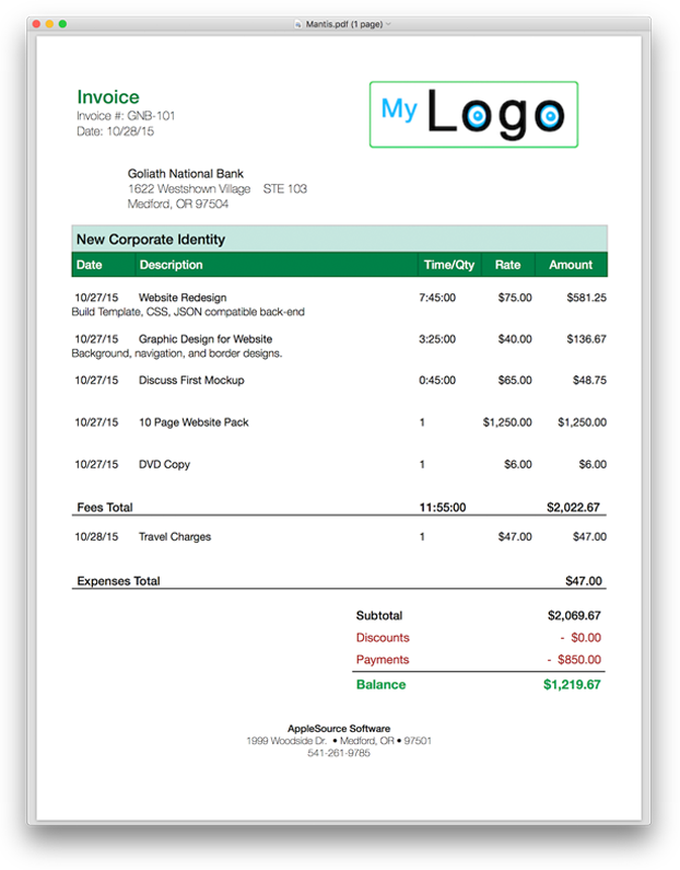 Simple Html Invoice Template Free Invoice Template Html Css Simple