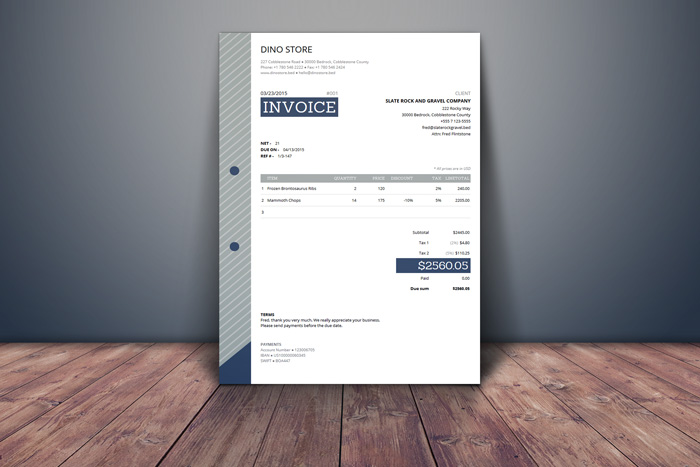 Free HTML Invoice Template with Auto Calculations! | DealFuel