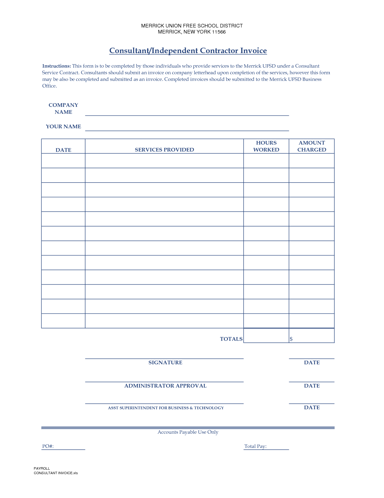 sample independent contractor invoice Acur.lunamedia.co