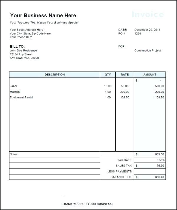 Sample 1099 Invoice 1099 Invoice Independent Contractor Invoice