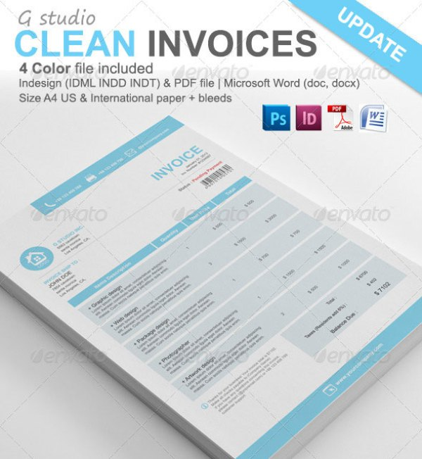38+ Invoice Templates PSD DOCX INDD Free Download PSDTemplatesBlog