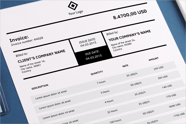 InDesign Invoice Template 7+ Free Indesign Format Download