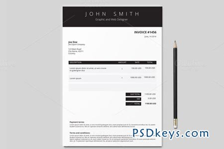 invoice indesign template invoice template 3 colours 50675 free