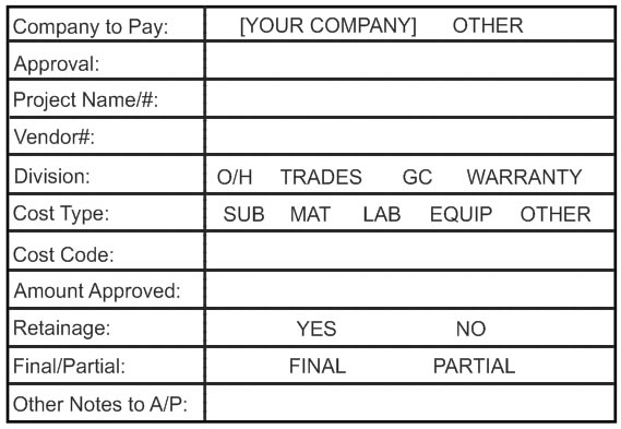 Accounts Payable Stamps Pre Inked Invoice Approval Stamp | NLSP