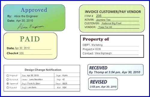 Invoice Approval Stamp Invoice Approval Stamp Figure 1 Document