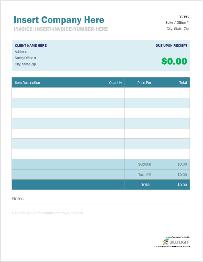 Free Invoice Maker That Allows You To Create An Invoice From