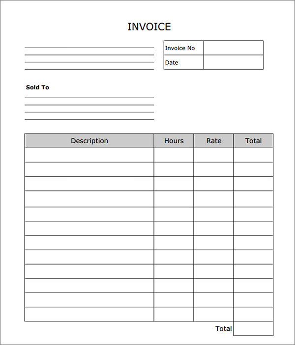 invoice template blank Ecza.solinf.co
