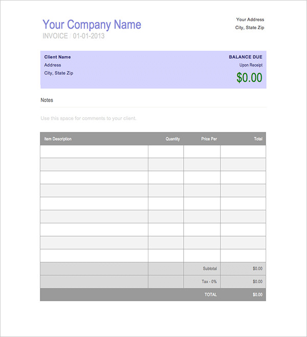 8+ Invoice Book Templates Free Word, PDF Documents Download