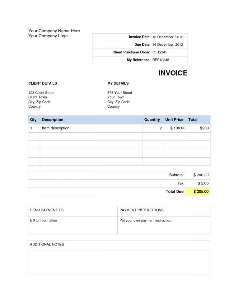 word doc invoice template free Acur.lunamedia.co