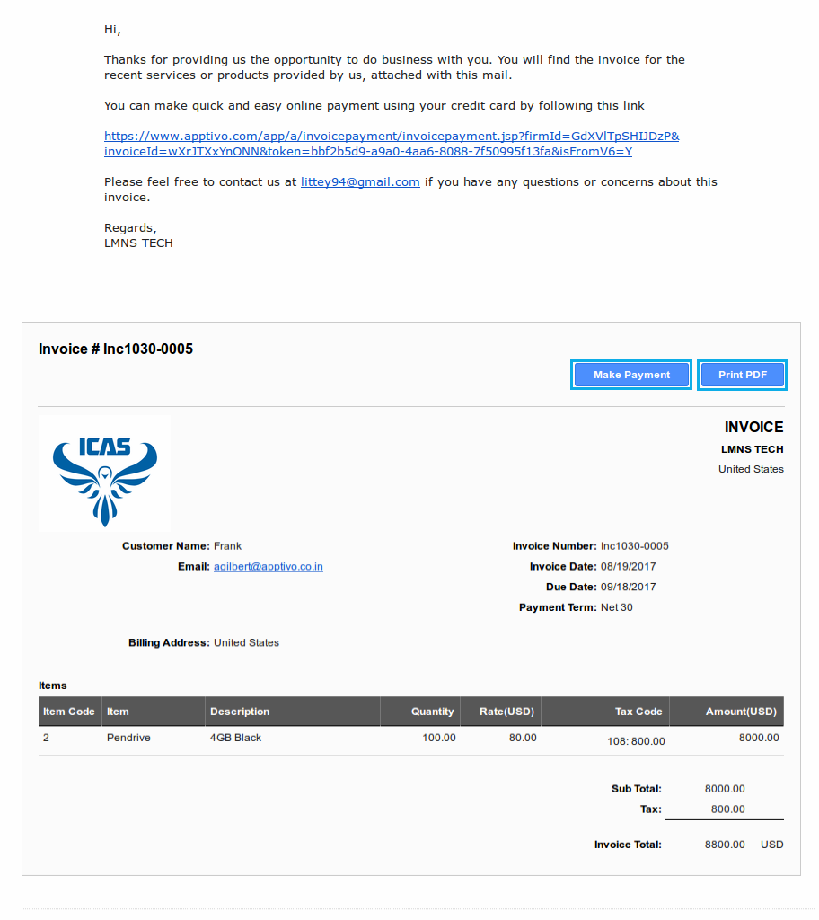sample invoice email Black.dgfitness.co