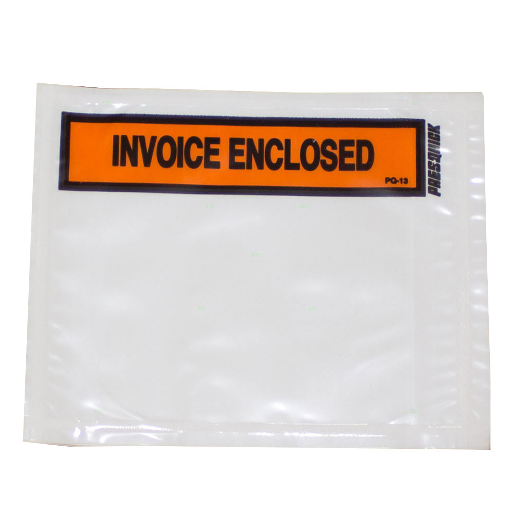 Brock Supply Invoice Enclosed Envelope 4.5