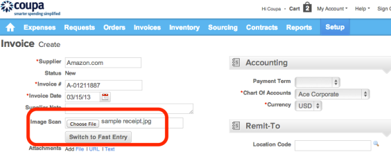 IFast Invoice Entry
