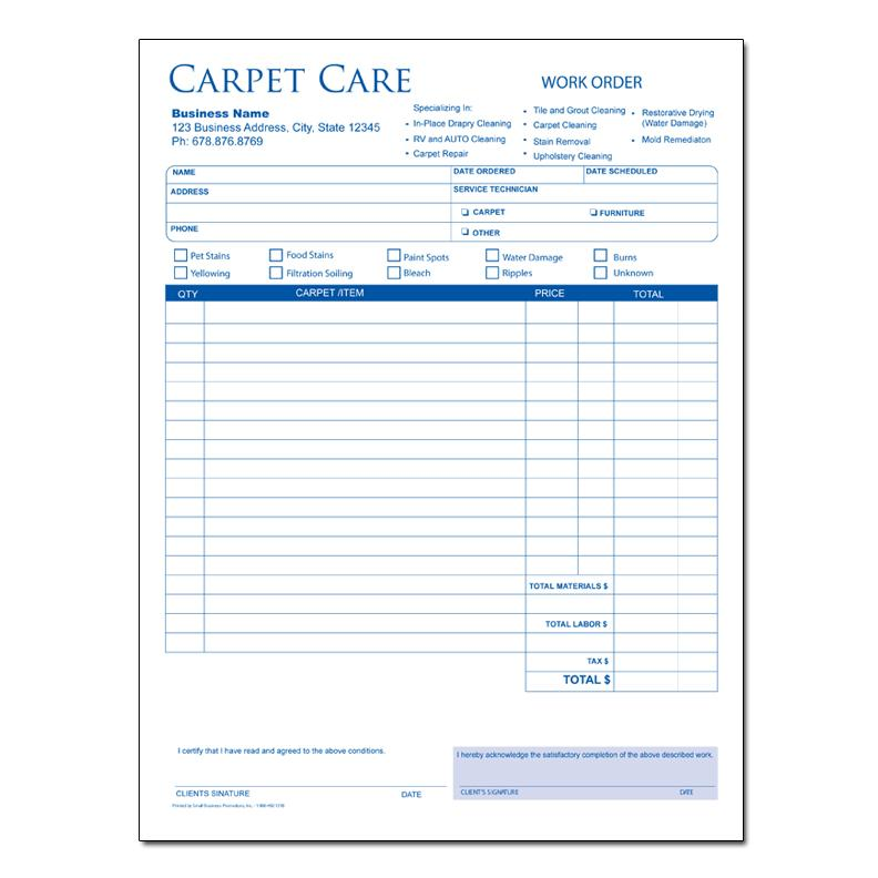 Free Carpet Cleaning Invoice Template