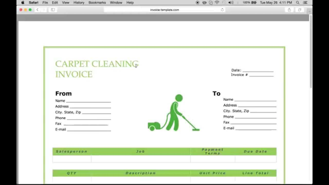Carpet Cleaning Invoice Forms Custom Printing | DesignsnPrint