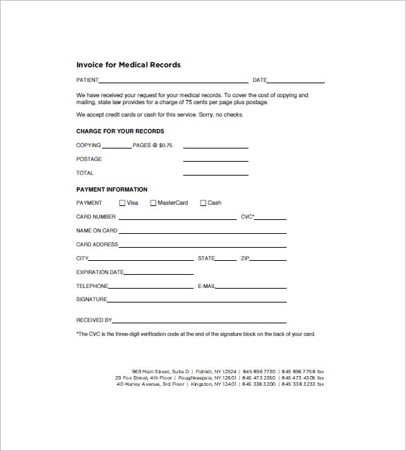 Invoice For Medical Records Request Medical Invoice Templates 13