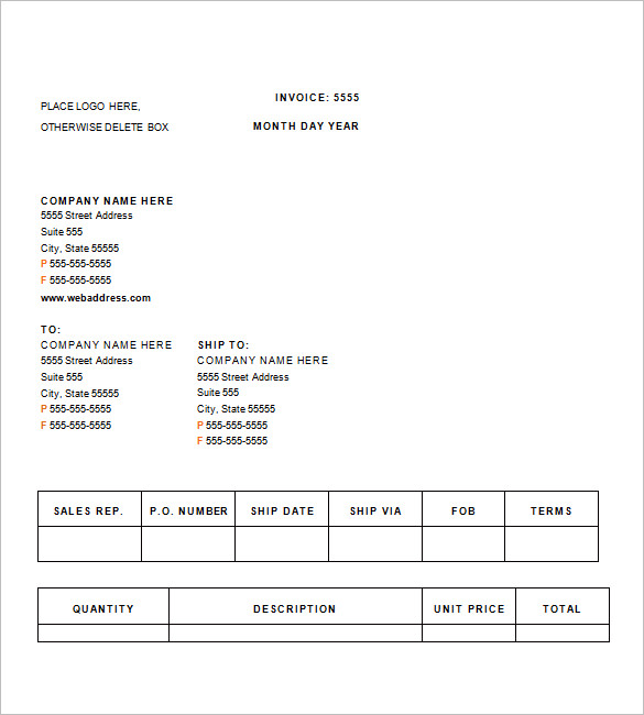 Medical Invoice Templates – 13+ Free Sample, Example, Format
