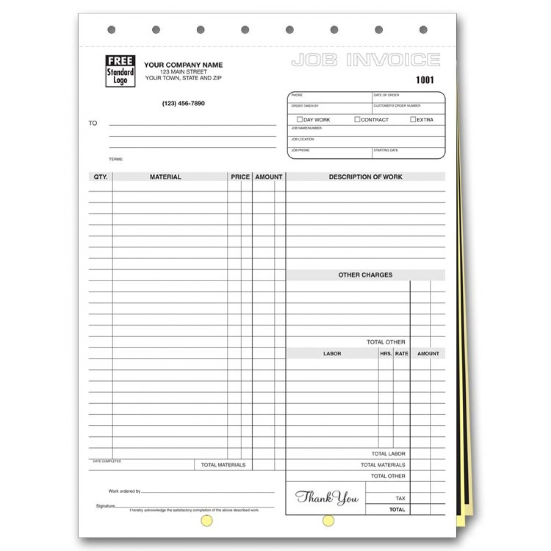 3 Part Invoices | Carbonless.com