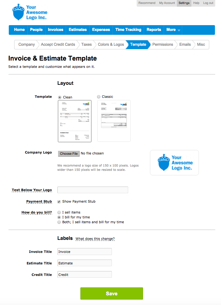 How do I manage my Template? | FreshBooks
