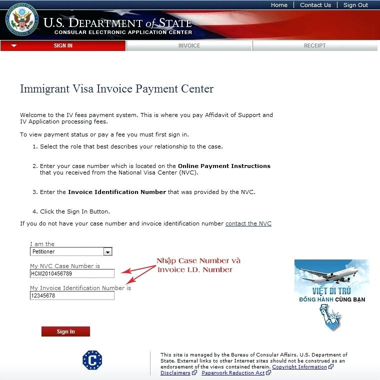 Online Immigrant Visa Invoice Payment Center Stickmangames What Is
