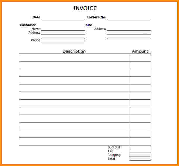 invoice template printable Ecza.solinf.co