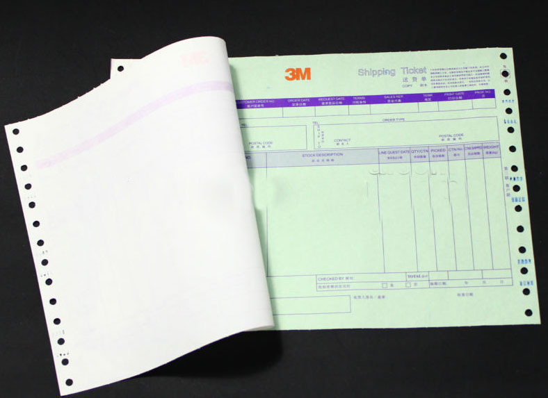 Custom carbonless printed paper receipt invoice books print in