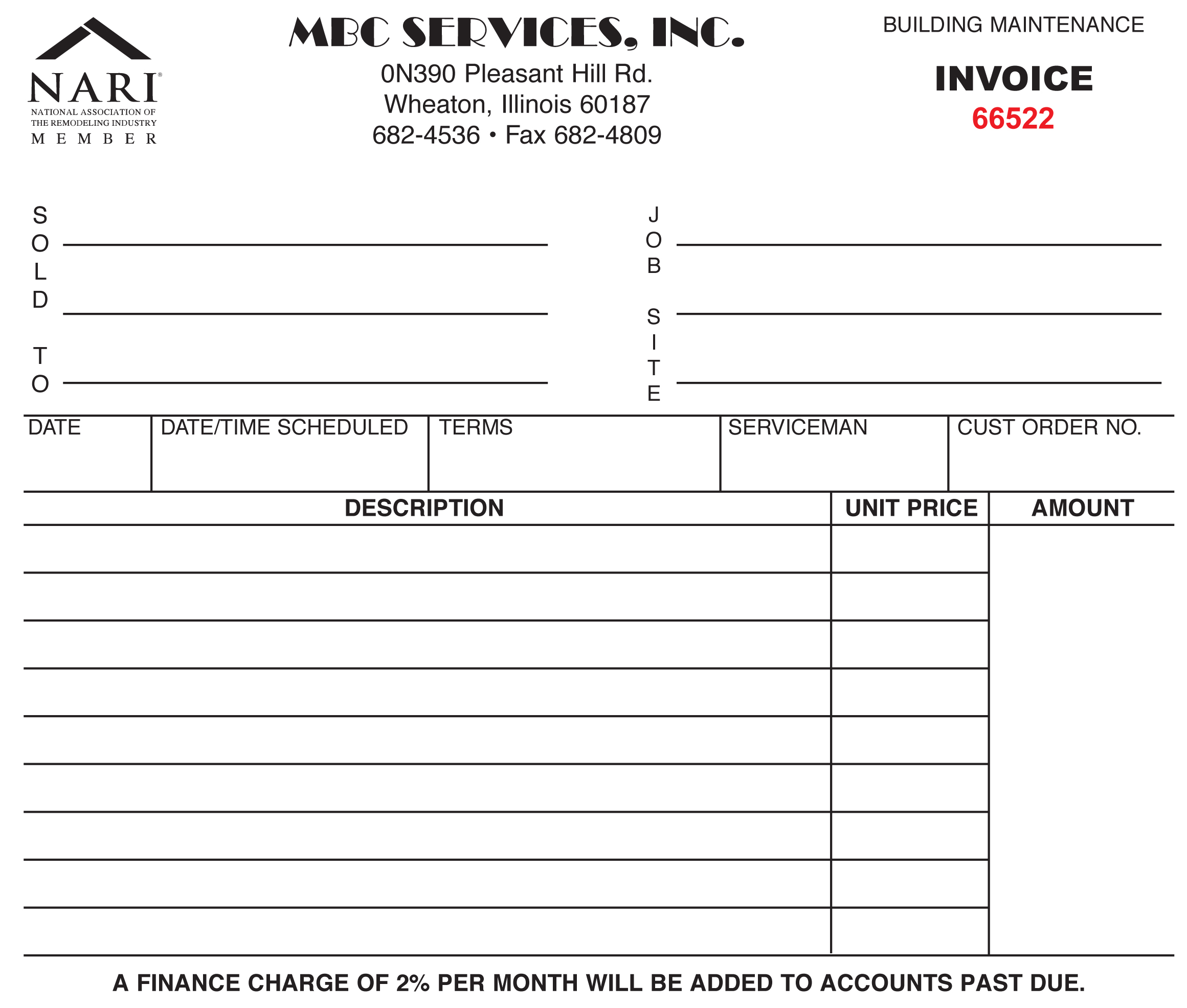 Invoice Form Printing dream ink Powerful Print, Promotional